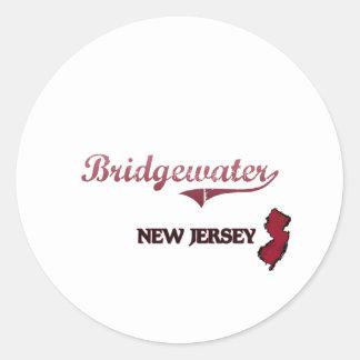 Obra clásica de la ciudad de Bridgewater New Etiqueta Redonda