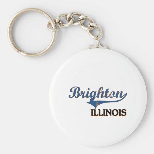Obra clásica de la ciudad de Brighton Illinois Llaveros