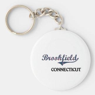 Obra clásica de la ciudad de Brookfield Connecticu Llavero Redondo Tipo Pin