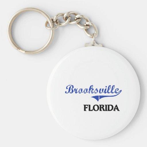 Obra clásica de la ciudad de Brooksville la Florid Llavero Personalizado