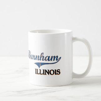 Obra clásica de la ciudad de Burnham Illinois Taza De Café