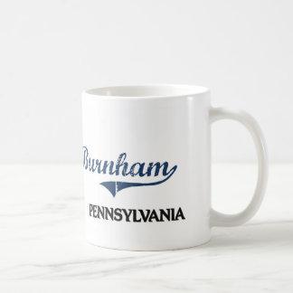 Obra clásica de la ciudad de Burnham Pennsylvania Taza