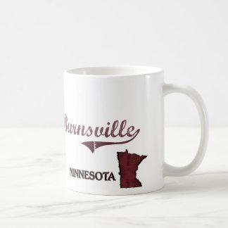 Obra clásica de la ciudad de Burnsville Minnesota Taza De Café