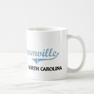 Obra clásica de la ciudad de Carolina del Norte Taza Básica Blanca