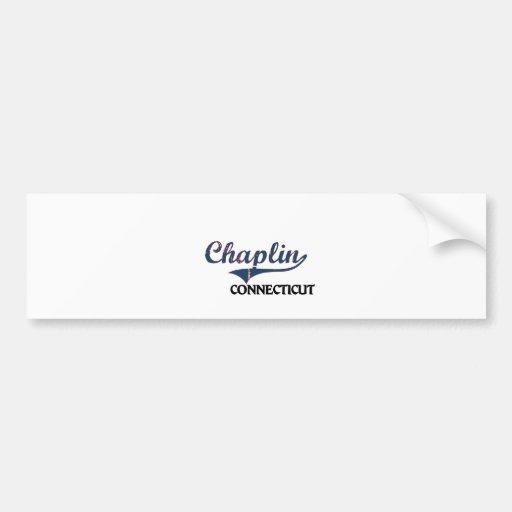 Obra clásica de la ciudad de Chaplin Connecticut Etiqueta De Parachoque