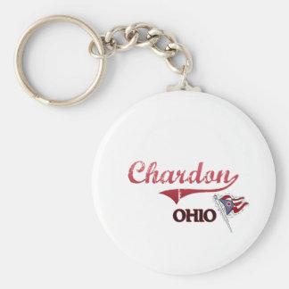 Obra clásica de la ciudad de Chardon Ohio Llavero Personalizado
