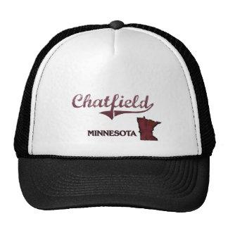 Obra clásica de la ciudad de Chatfield Minnesota Gorras De Camionero