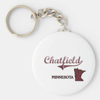 Obra clásica de la ciudad de Chatfield Minnesota Llavero Personalizado