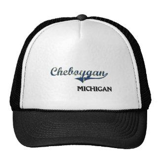 Obra clásica de la ciudad de Cheboygan Michigan Gorras