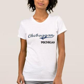 Obra clásica de la ciudad de Cheboygan Michigan Tshirts