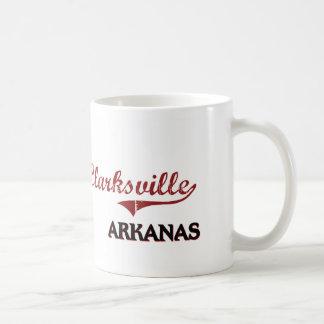 Obra clásica de la ciudad de Clarksville Arkansas Tazas De Café