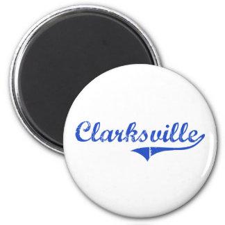 Obra clásica de la ciudad de Clarksville Imán Redondo 5 Cm