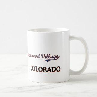 Obra clásica de la ciudad de Colorado del pueblo d Tazas De Café