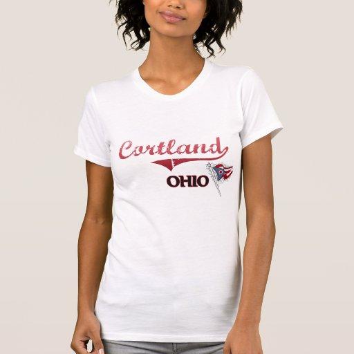 Obra clásica de la ciudad de Cortland Ohio Camiseta