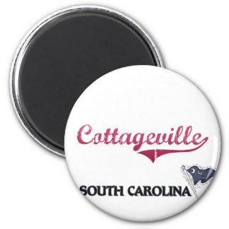 Obra clásica de la ciudad de Cottageville Carolina Imán Redondo 5 Cm