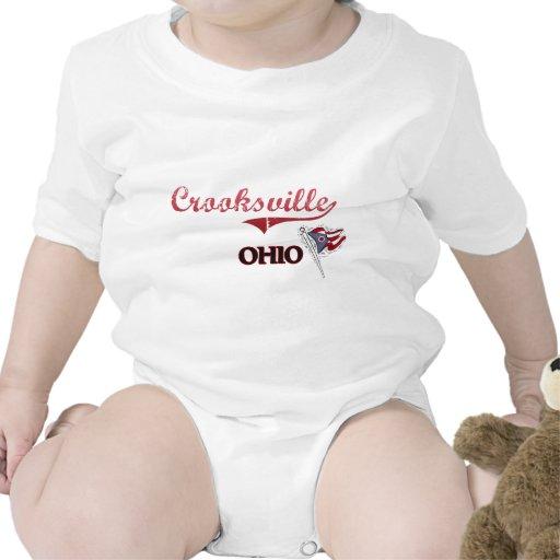 Obra clásica de la ciudad de Crooksville Ohio Camisetas