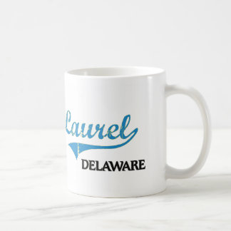 Obra clásica de la ciudad de Delaware del laurel Taza Clásica