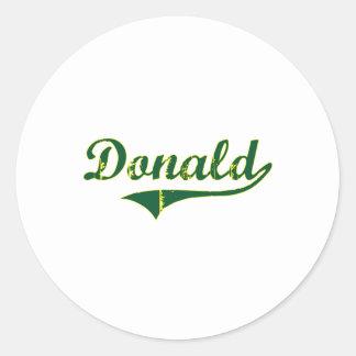 Obra clásica de la ciudad de Donald Oregon Etiquetas Redondas
