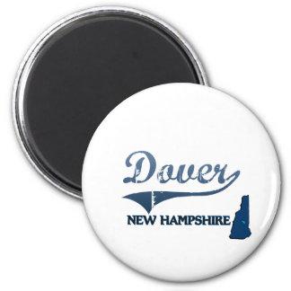 Obra clásica de la ciudad de Dover New Hampshire Imán Redondo 5 Cm