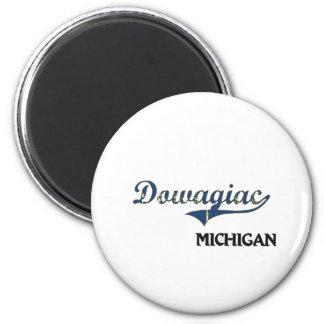 Obra clásica de la ciudad de Dowagiac Michigan Imán Redondo 5 Cm