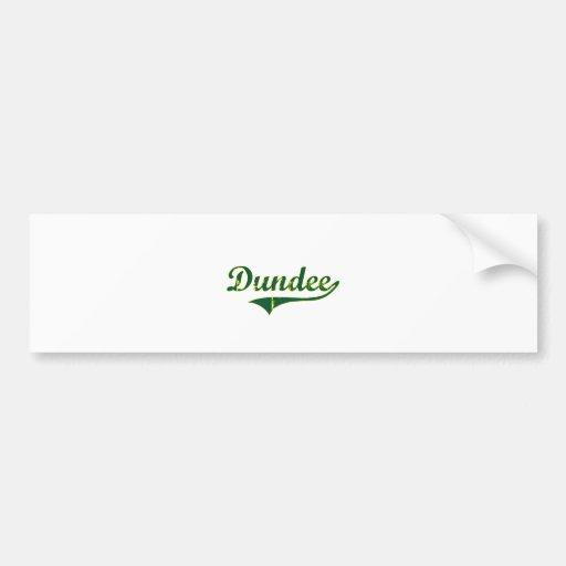 Obra clásica de la ciudad de Dundee Oregon Pegatina De Parachoque