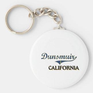 Obra clásica de la ciudad de Dunsmuir California Llavero
