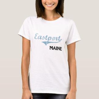 Obra clásica de la ciudad de Eastport Maine Playera