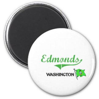 Obra clásica de la ciudad de Edmonds Washington Imán Redondo 5 Cm