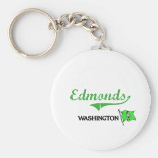 Obra clásica de la ciudad de Edmonds Washington Llavero Redondo Tipo Pin