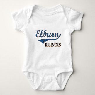 Obra clásica de la ciudad de Elburn Illinois Playeras