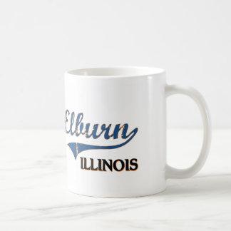 Obra clásica de la ciudad de Elburn Illinois Taza Básica Blanca