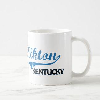 Obra clásica de la ciudad de Elkton Kentucky Taza