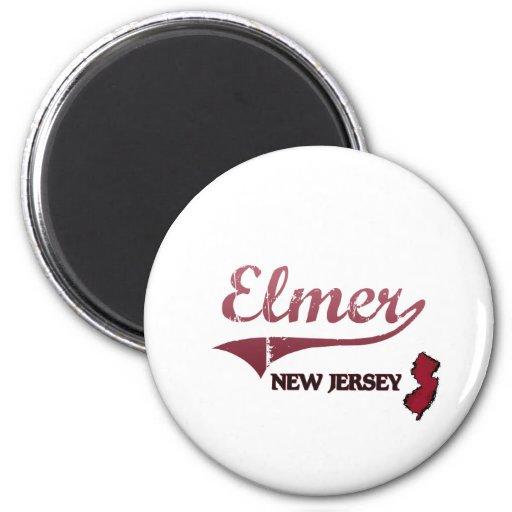 Obra clásica de la ciudad de Elmer New Jersey Imanes Para Frigoríficos