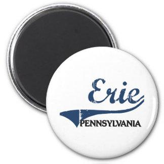 Obra clásica de la ciudad de Erie Pennsylvania Imán