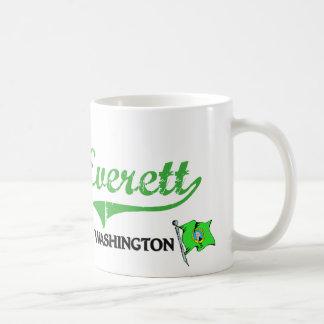 Obra clásica de la ciudad de Everett Washington Taza De Café