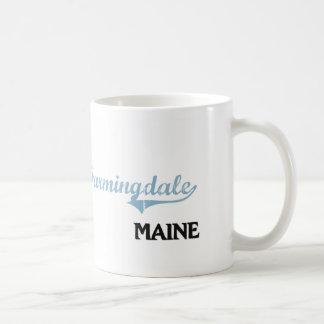 Obra clásica de la ciudad de Farmingdale Maine Taza Básica Blanca