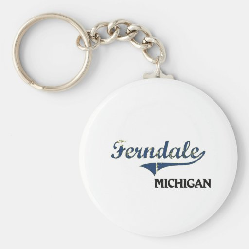 Obra clásica de la ciudad de Ferndale Michigan Llaveros Personalizados
