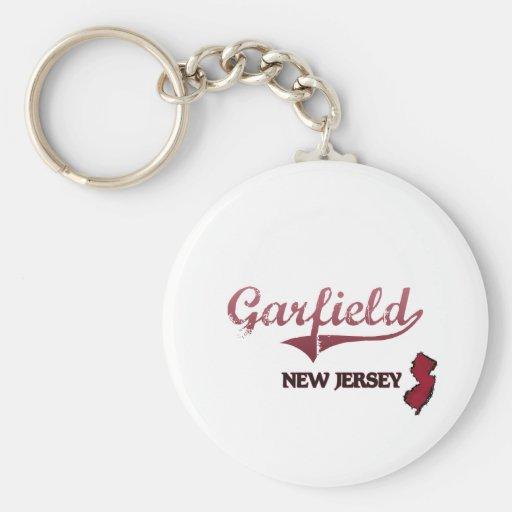 Obra clásica de la ciudad de Garfield New Jersey Llavero Redondo Tipo Pin
