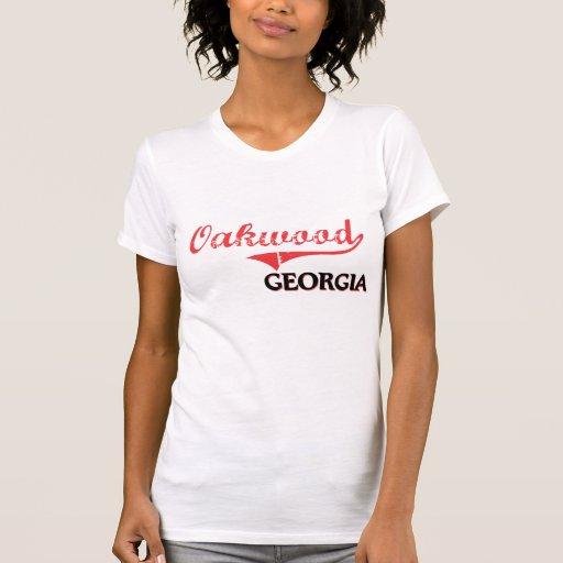 Obra clásica de la ciudad de Georgia de la madera Camiseta