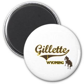 Obra clásica de la ciudad de Gillette Wyoming Imán Redondo 5 Cm