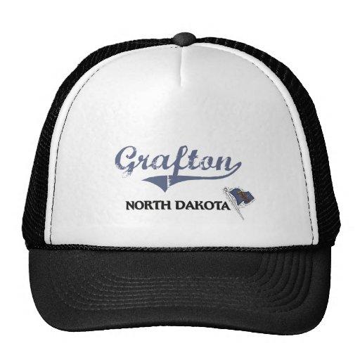 Obra clásica de la ciudad de Grafton Dakota del No Gorros Bordados