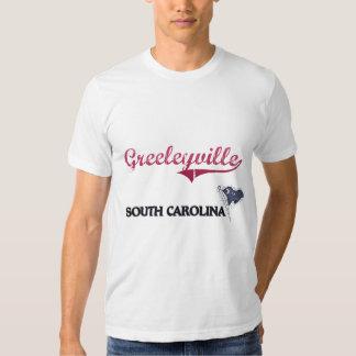 Obra clásica de la ciudad de Greeleyville Carolina Playeras