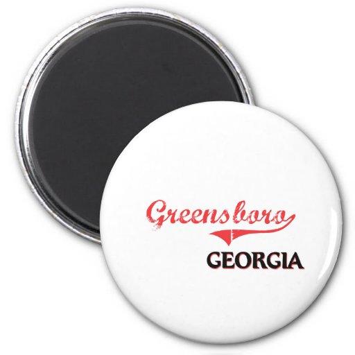 Obra clásica de la ciudad de Greensboro Georgia Imán Redondo 5 Cm