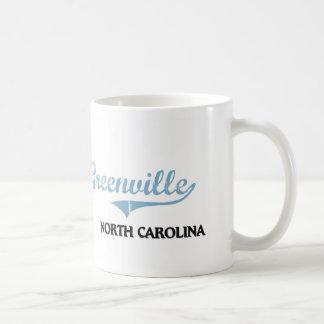 Obra clásica de la ciudad de Greenville Carolina Taza