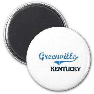 Obra clásica de la ciudad de Greenville Kentucky Imán Redondo 5 Cm