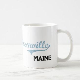 Obra clásica de la ciudad de Greenville Maine Taza Clásica