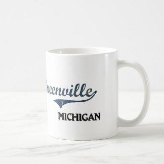 Obra clásica de la ciudad de Greenville Michigan Taza Clásica