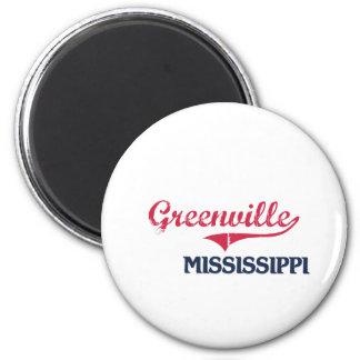 Obra clásica de la ciudad de Greenville Mississipp Imán Redondo 5 Cm