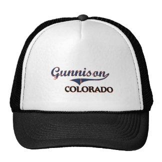 Obra clásica de la ciudad de Gunnison Colorado Gorros Bordados