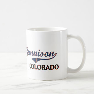 Obra clásica de la ciudad de Gunnison Colorado Taza